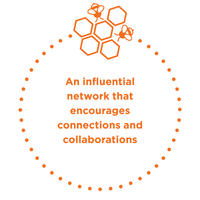 An influential network encouraging connections and collaborations